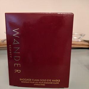 NWT Wander Beauty Baggage Claim Gold Eye Masks